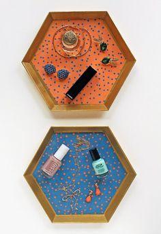DIY Polka Dot Vanity Trays
