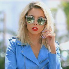 "•L•U•X• op Instagram: "" @quayaustralia ""Like Wow"" sunnies @doseofcolors Kiss of Fire + @anastasiabeverlyhills Spicy liquid lips mixed together  @essiepolish Bikini So Teeny nail polish """