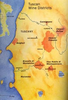 Tuscan wine map