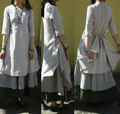 Linen Wrap dress pretty and comfy