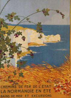 chemins de fer de l'état - La Normandie en été - 1914 - (Géo Dorival) -