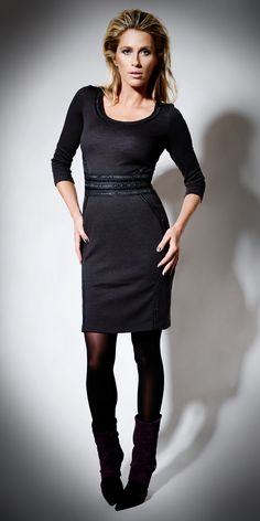 Chocolate Luxe Wool Dress on TROVEA.COM
