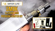 The SMOKtech R-Steam Mini TC Mod Premium Kit by Vapor4Life (V4L) contains everything you need to start vaping in one combo kit. The R-Steam Mini, the TFV4 Mini Tank (Includes 3 tank coils), 18650 battery and accessories. #vaping #vape #vapor #ecigs #mods #vapereviews #reviews #smok
