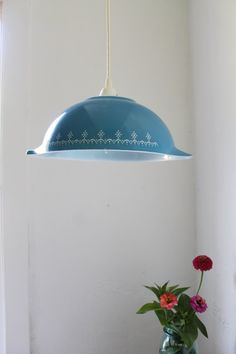 Pendant light from a Pyrex bowl! MUST MAKE NAOW!!!!