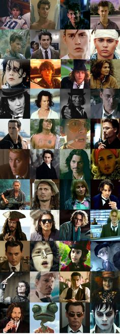 Johnny Depp, every character in order ;)