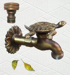 Amazon.com: Brass Turtle Garden Outdoor Faucet - With a Brass Connecter: Patio, Lawn & Garden