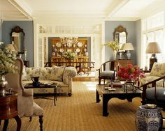 cape cod design style   This room is flawless. The colors,textures and marriage of different ...