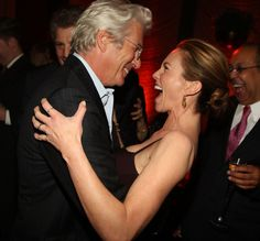 """Actors Richard Gere and Diane Lane attend the premiere after party for """"Nights in Rodanthe"""" at The Four Seasons restaurant on September 23, 2008"""