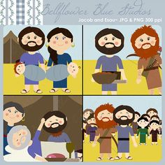 Jacob and Esau Digital Clipart