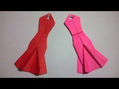Origami Vestido de papel - How to make an origami paper dress - YouTube