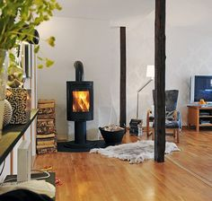 fireplace-in-swedish-home-1 - Home Decorating Trends - Homedit