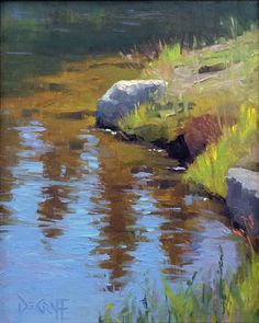 Reflections and Rim Light by Larry DeGraff Oil ~ 10 x 8