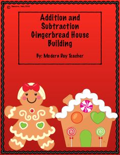 This packet would be great to use during small group time or as a center. Students will complete two and three digit addition and subtraction problems with and without regrouping. As they complete pages they will earn pieces to decorate their gingerbread house.
