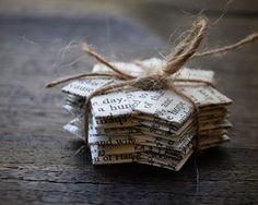 Vintage+paper+folded+stars+Text.+Gift+decoration.+2.3+by+ShePinTea