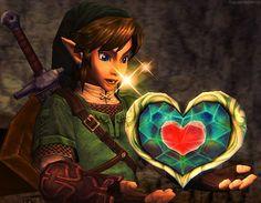 Zelda Heart Container Twilight Princess You got the heartpeice ...