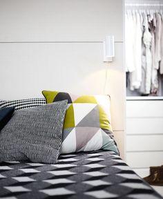 Orden y minimalismo en Finlandia, bedding + colors