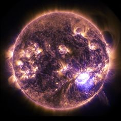 Picture of a solar flare