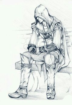 Ezio Auditore da Firenze, you're not Altaïr but I still like you. Yes, I admitt, I've a weakness for young Assassins. Tatouage Assassins Creed, Assassins Creed Series, Asesins Creed, All Assassin's Creed, Overwatch, Character Drawing, Character Design, Graphic Novel, Fantasy
