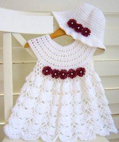 Crochet Baby Dress Crochet Baby Skirt Communion Set Cute - Rock Baby Names - Ideas of Rock Baby Names - Crochet Baby Dress Crochet Baby Skirt Communion Set Cute Crochet Hat Sizing, Bonnet Crochet, Crochet Bebe, Crochet Girls, Crochet Baby Clothes, Crochet For Kids, Crochet Hats, Crochet Flower, Crochet Summer