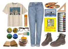 """""""""""I feel that there is nothing more truly artistic than to love people.""""~Van Gogh"""" by fantasy-lover-0719 on Polyvore featuring Retrò, Topshop, Cutler and Gross, Dr. Martens and Burt's Bees"""
