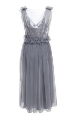 Netted Ruffle Midi Dress by Elenareva | Moda Operandi