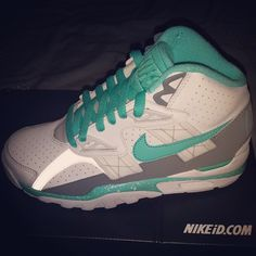 In early July, NIKEiD made Bo Jackson's Air Trainer SC High available to customize for the first time. Bo Jackson Sneakers, Bo Jackson Shoes, Sneakers N Stuff, Retro Sneakers, Shoes Sneakers, Nike Id, Fashion Design Drawings, Comfortable Sneakers, Higher Design