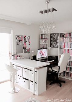 Interior design ideas for a lady – Home office – Working women | Milk with Honey