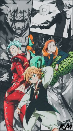 King, ban and meliodas Seven Deadly Sins Anime, 7 Deadly Sins, Anime Angel, Otaku Anime, Manga Anime, Meliodas And Elizabeth, Seven Deady Sins, Animes Wallpapers, Anime Fantasy