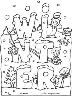 free printable winter coloring pages for preschoolers printable coloring pages for kids