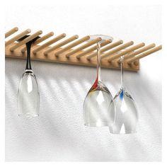 Wine Glass Shelf, Wine Glass Storage, Wine Glass Holder, Glass Shelves, Wine Holders, Glass Cabinets, Bottle Holders, Regal Design, Hanging Racks