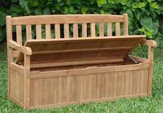 New 5 Feet Grade A Teak Wood Luxurious Outdoor Garden Bench with Storage Box Devon Collection * You can get additional details at the image link. Garden Bench Cushions, Teak Garden Bench, Outdoor Garden Bench, Patio Furniture Cushions, Outdoor Furniture, Outdoor Benches, Backyard Furniture, Antique Furniture, Modern Furniture
