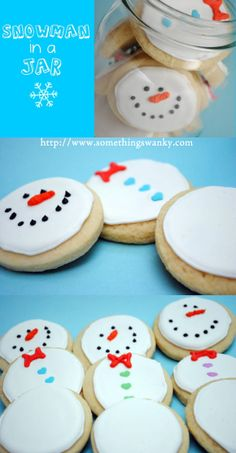 Build-a-Snowman Cookies in a Jar perfect for E!'s Xmas party