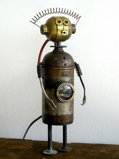 """Zelda"" Assemblage Robot Sculpture by Boing! Boing!, via Flickr"