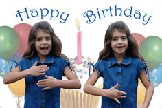 "Happy Birthday ""girl"" - greeting card"