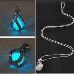 Hot Salling Chic Little Mermaid/'s Teardrop Glow in the Dark Pendant Necklace