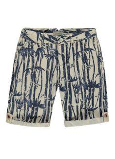 Scotch Shrunk Chino shorts met bamboeprint