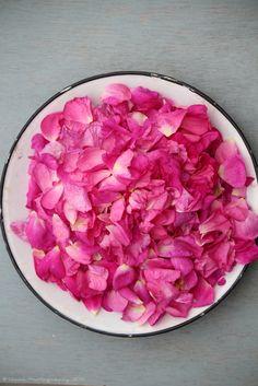 Oggi confettura di petali di Rosa damascena. Fra pochi giorni la ricetta sul blog... :)  Che profumo!  :)