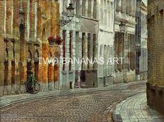 159 Life On A Quiet European Street by Richard Neuman Digital Media ~ 18 x 24