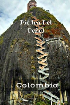 Piedra Del Penol - Climb the beast! Great day trip from Medellin, Colombia. If you are planning a visit, take a side trip to Guatape to see the beautiful colorful town and get some amazing views from above! Click to read more @venturists