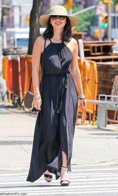 Look; Chapéu + Maxi Dress