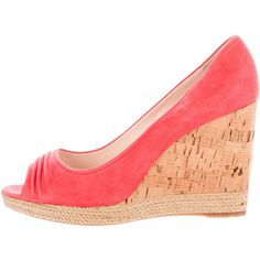 Prada Sport Suede Peep-Toe Wedges cheap with paypal cheap sale sneakernews 2015 for sale 7KHspu