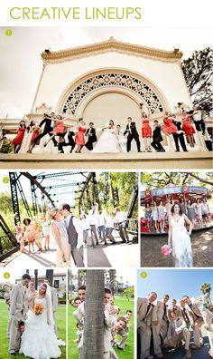creative wedding party photos