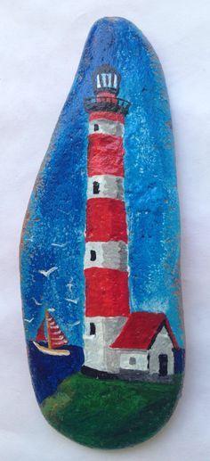 Beach stone painting, Seascape