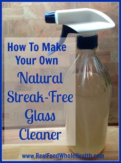 How to Make Your Own Natural Streak-Free Glass Cleaner - Real Time - Diet, Exercise, Fitness, Finance You for Healthy articles ideas Vinegar Window Cleaner, Diy Window Cleaner, Window Cleaner Recipes, Mirror Cleaner, Cleaning Windows With Vinegar, Cleaning Car Windows, Window Cleaning Tips, Best Glass Cleaner, Homemade Glass Cleaner