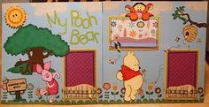 winnie the pooh Baby Boy Scrapbook, Disney Scrapbook Pages, Scrapbook Sketches, Scrapbook Page Layouts, Winnie The Pooh Friends, Disney Winnie The Pooh, Digital Scrapbooking Freebies, Scrapbooking Ideas, Friends Font