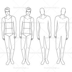 Male Fashion #Croquis Template $2.49 #illySTUFF