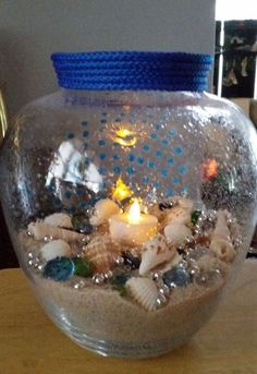 poolside candle vase, crafts