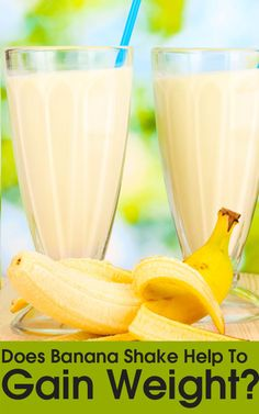 protein shake to gain muscle Does Banana Shake Help To Gain Weight? Weight Gain Plan, Ways To Gain Weight, Weight Gain Journey, Gain Weight Fast, Weight Gain Meals, Healthy Weight Gain, Weight Loss, Healthy Smoothies, Healthy Drinks