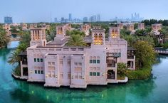 Hotel Dar Al Masyaf, Madinat Jumeirah, Dubai, United Arab Emirates. Madinat Jumeirah, is a luxurious 5 star resort in Dubai and is the largest resort in the emirate, spreading across over 40 hectares of landscapes and gardens. It is designed to resemble a traditional Arabian town. #dubai #uae
