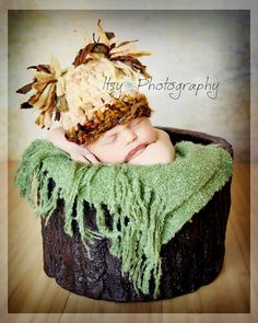Baby Hat Photo PropSari Silk RibbonMerino Wool by Doodlebopperz, $26.00